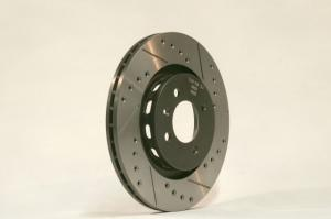 Drilled & grooved Tarox brake disks